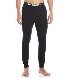 Diesel Black Logo Pajama Joggers