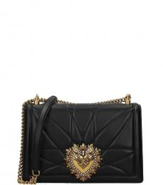 Dolce & Gabbana Black Devotion Small Shoulder Bag