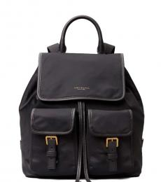 Tory Burch Black Perry Medium Backpack