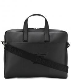 Emporio Armani Black Logo Large Briefcase Bag
