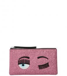 Chiara Ferragni Pink Glitter Wristlet