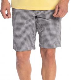 Grey Island Check Seersucker Shorts