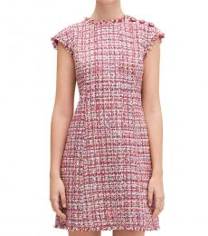 Kate Spade Pink Textured Tweed Dress