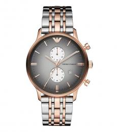Emporio Armani Rose Gold Two Tone Watch