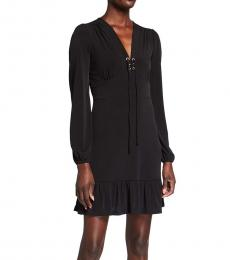 Michael Kors Azalea Lace-Up Matte Jersey Dress