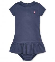 Ralph Lauren Baby Girls French Navy T-Shirt Dress