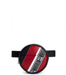 Black Logo Stripe Fanny Pack