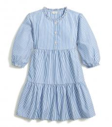J.Crew Girls Banker Blue Tiered Dress