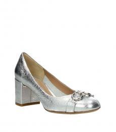 Salvatore Ferragamo Silver Garda Heels