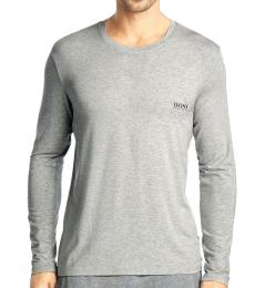 Grey Modal Long Sleeve T-Shirt