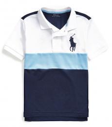 Little Boys Blue Lagoon Big Pony Performance Polo