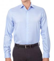 Powder Blue Regular Fit Air Soft Stretch Shirt