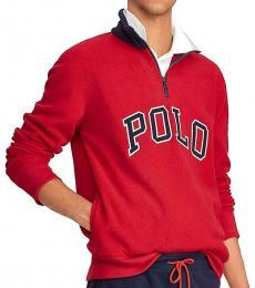 Ralph Lauren Red Zip Sweatshirt
