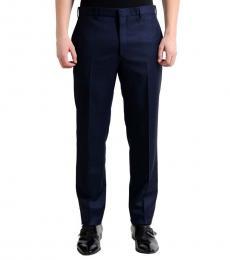 Navy Blue Flat Front Dress Pants