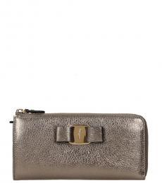 Salvatore Ferragamo Pale Gold Metallic Wallet