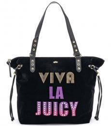 Juicy Couture Black Shopper Large Tote