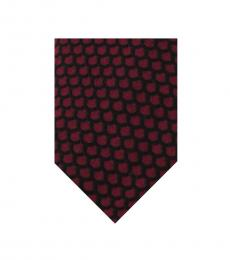 Black Modern Patterned Tie
