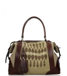 Fay Multicolor Printed Large Satchel