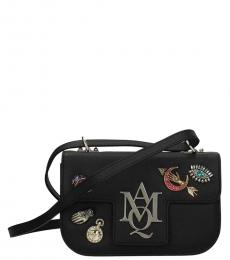 Alexander McQueen Black Embellished Insignia Small Crossbody