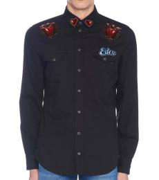 Black Gold Embroidery Shirt