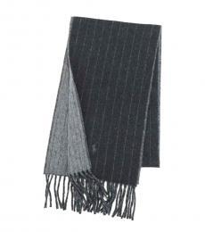 Ralph Lauren Grey Stripe Scarf