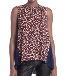 Diane Von Furstenberg Multi color Silvie Sleeveless Top