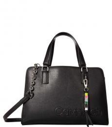 Calvin Klein Black Cube Medium Satchel