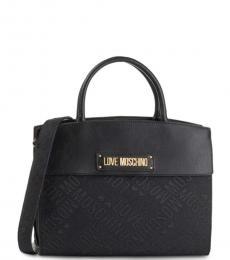 Love Moschino Black Signature Large Satchel