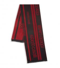 Red Two-Tone Scarf