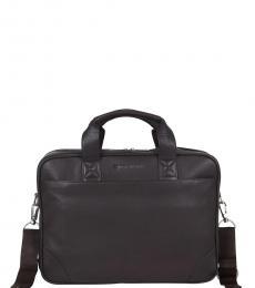Ben Sherman Brown Premium Large Briefcase Bag