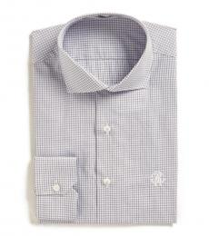 Roberto Cavalli Light Blue Check Dress Shirt