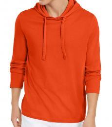 Michael Kors Dark Persimmon Luxe Cotton Hoodie