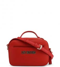 Love Moschino Red Round Pouch Small Crossbody
