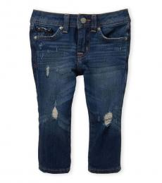 AG Adriano Goldschmied Baby Boys Blue Noah Ripped Slim Straight Jeans