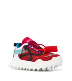 Off-White Red Leather Sneakers