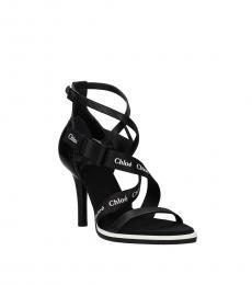 Black Signature Print Heels