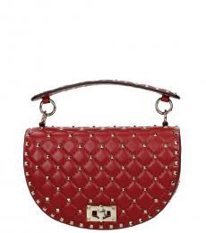 Valentino Garavani Red Rockstud Medium Shoulder Bag