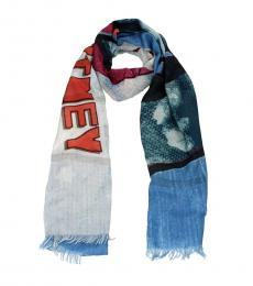 Stella McCartney Multicolor Printed Logo Scarf