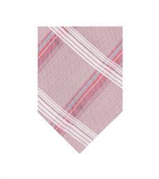Calvin Klein Coral Creme Plaid Tie