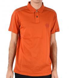 Emporio Armani Orange Cotton Piqu� Polo
