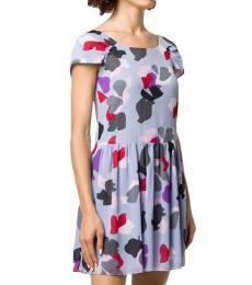 Multicoloured  Floral Print Mini Dress