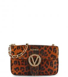 Mario Valentino Leopard Poisson Small Shoulder Bag