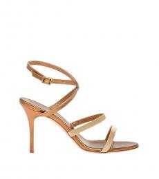 Gold Lidia Heels