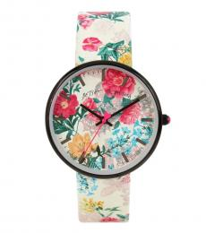 Betsey Johnson Multicolor 3-D Printed Watch