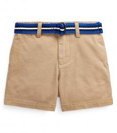 Baby Boys Khaki Belted Chino Shorts