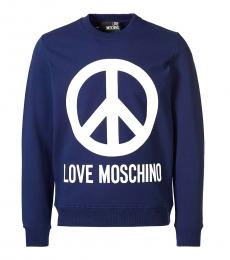 Love Moschino Royal Blue Graphic Logo Sweatshirt