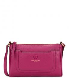 Marc Jacobs Sangria Empire City Top-Zip Small Crossbody