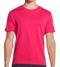 Fucshia Supima Crewneck T-Shirt