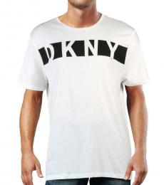 DKNY White Cotton Logo T-Shirt