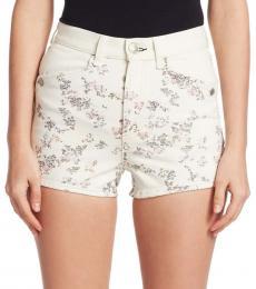 Rag And Bone Micro Floral Ellie Floral Denim Shorts